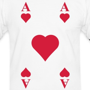 ace of hearts, playing card  T-Shirts - Men's Ringer Shirt