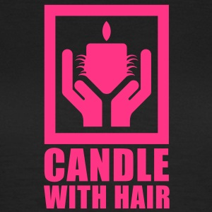 Candle with hair T-Shirts - T-skjorte for kvinner