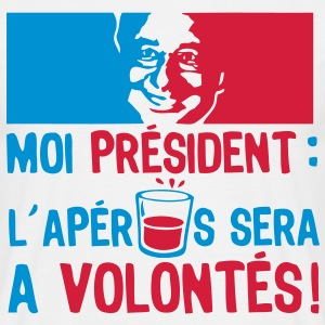 moi president apero alcool humour volont Tee shirts - T-shirt Homme
