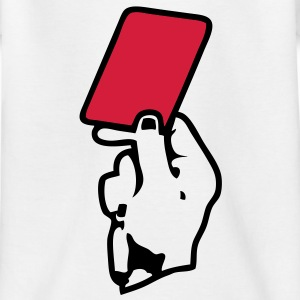 main hand carton rouge red card Tee shirts - T-shirt Enfant