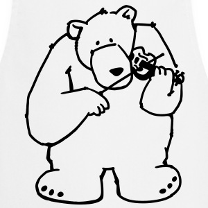 The bear plays violin  Aprons - Cooking Apron