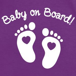 baby on board Tee shirts - T-shirt contraste Femme