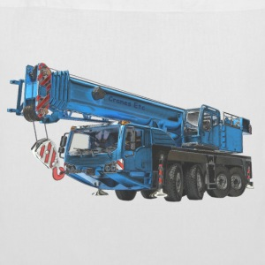 Mobile Crane 4-axle - Blue - Tote Bag