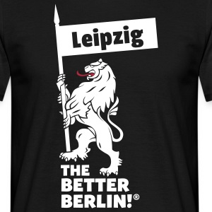 Herren T-Shirt mit Leipzig the better Berlin! - Männer T-Shirt