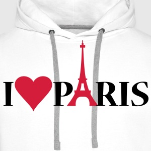 I Love / Heart Paris - Sweat-shirt à capuche Premium pour hommes