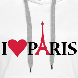 I Love / Heart Paris - Premium hettegenser for kvinner