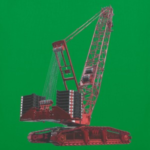 Crawler Crane 750t - Red Bags  - Tote Bag