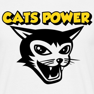 cats power 01 T-skjorter - T-skjorte for menn