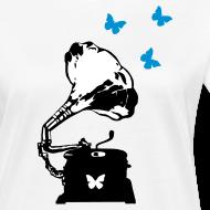 Design ~ Sound Nomaden Grammophone & Butterflies Shirt Women