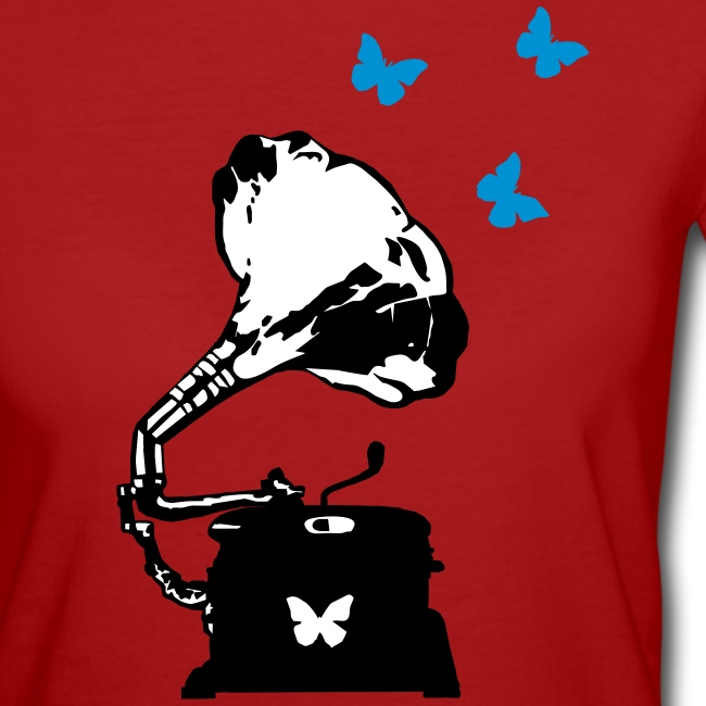 Sound Nomaden Grammophone & Butterflies Shirt Women
