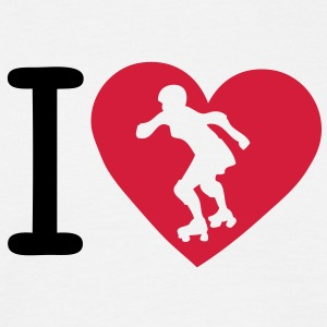 love roller derby coeur heart1 Tee shirts - T-shirt Homme