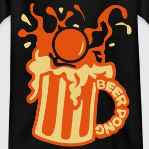 beer pong eclaboussure biere balle boiss Tee shirts - T-shirt Enfant