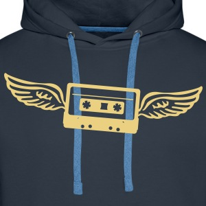 Cassettes angel  Hoodies & Sweatshirts - Men's Premium Hoodie