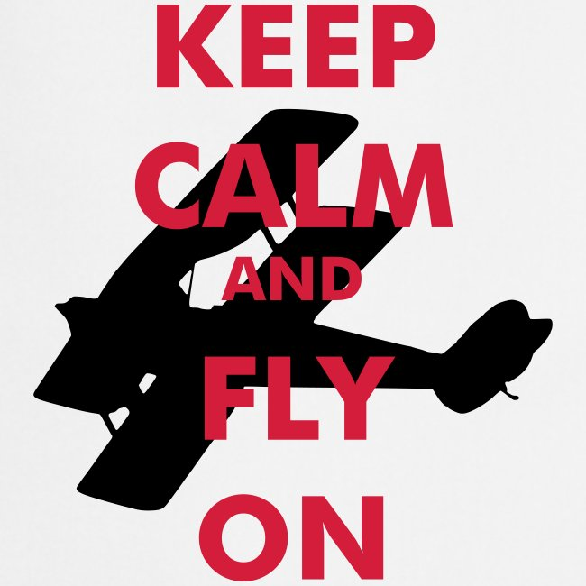 Keep Calm Fly On Biplane