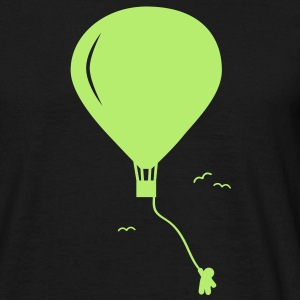 hot-air balloon guy  luftballong kille  T-shirts - T-shirt herr