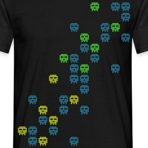 Black pixel skull game shot T-Shirts - Men's T-Shirt