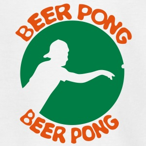 logo beer pong joueur player4 Tee shirts - T-shirt Enfant