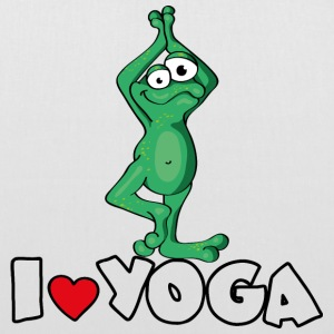 The Yoga Frog loves the position of the tree Torby - Torba materiałowa