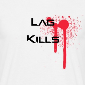 Lag kills with blood stain - Men's T-Shirt