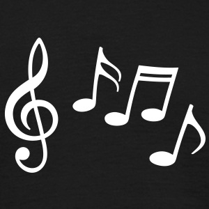 Happy music notes with treble clef T-Shirts - Men's T-Shirt