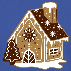A gingerbread house, gingerbread and frosting  Hoodies & Sweatshirts - Men's Sweatshirt