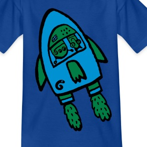 alien rocket - Kinder T-Shirt