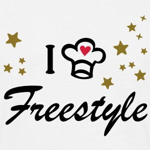 I love freestyle cooking. Cook, Chef Koch T-Shirts - Männer T-Shirt
