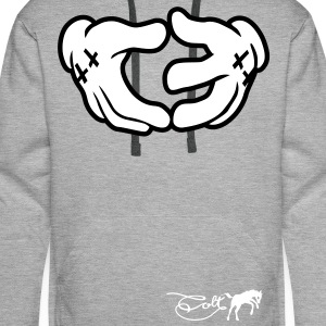 Heather grey Colt - Hand Sign Hoodies & Sweatshirts - Men's Premium Hoodie