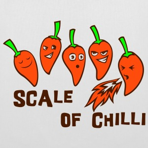 scale of chilli Bags  - Tote Bag