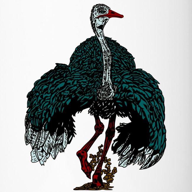thermomok met struisvogel
