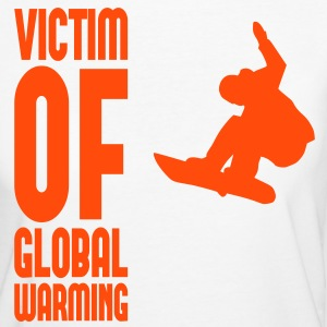 Victim of global warming - Snowboard T-Shirts - Frauen Bio-T-Shirt