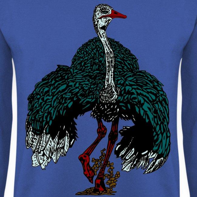mannen sweater met struisvogel