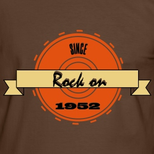 Rock on! Since 1952 3c rock´n roll  T-shirts - Mannen contrastshirt