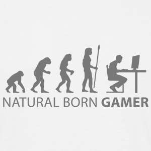 evolution natural born gamer T-Shirts - Men's T-Shirt