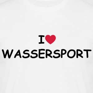 I love/heart Wassersport T-Shirt - Männer T-Shirt