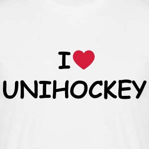 I love/heart Unihockey T-Shirt - Männer T-Shirt
