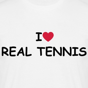 I love/heart Real Tennis T-Shirt - Männer T-Shirt