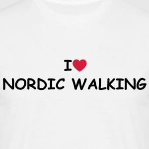 I love/heart Nordic Walking T-Shirt - Männer T-Shirt