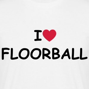 I love/heart Floorball T-Shirt - Männer T-Shirt