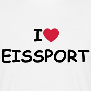 I love/heart Eissport T-Shirt - Männer T-Shirt