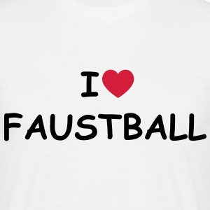 I love/heart Faustball T-Shirt - Männer T-Shirt