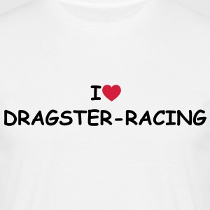 I love/heart Dragster-racing T-Shirt - Männer T-Shirt