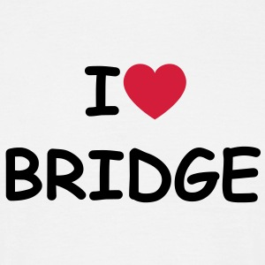 I love/heart Bridge T-Shirt - Männer T-Shirt