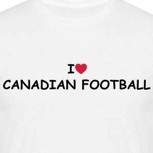 I love/heart Canadian Football T-Shirt - Männer T-Shirt