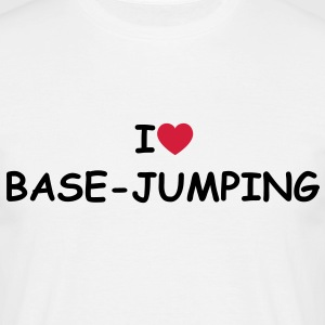 I love/heart Base-jumping T-Shirt - Männer T-Shirt