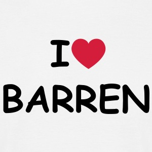 I love/heart Barren T-Shirt - Männer T-Shirt