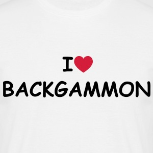 I love/heart Backgammon T-Shirt - Männer T-Shirt