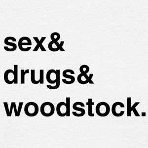Sex, Drugs and Woodstock T-Shirt - Männer T-Shirt