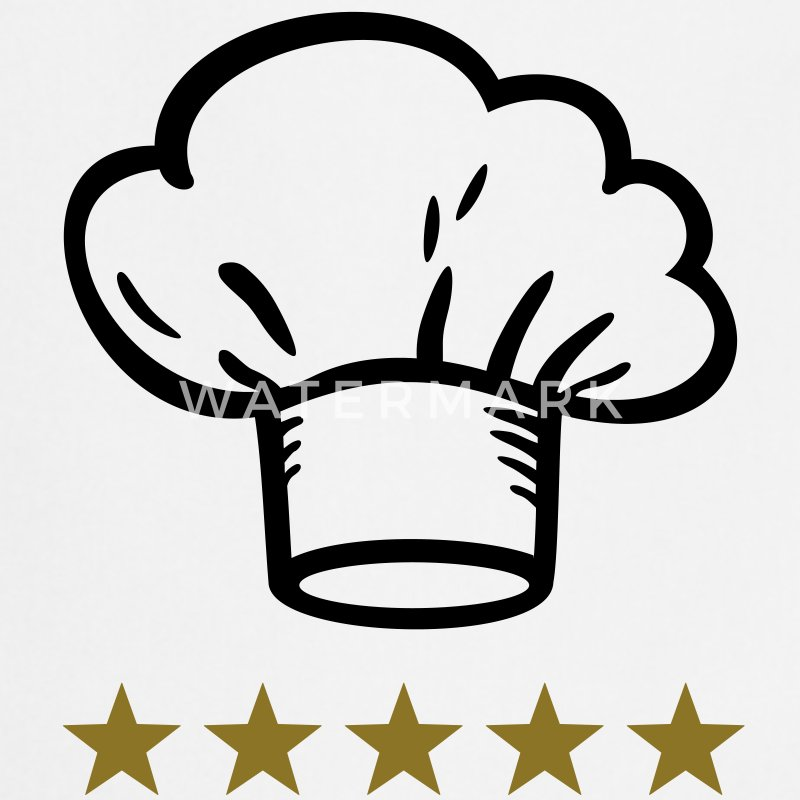 Chef´s Hat 5 Star  Aprons - Cooking Apron