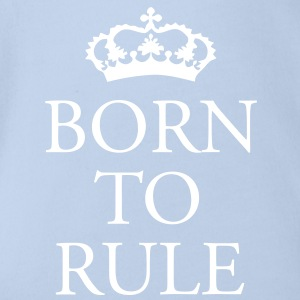 Gin O'Clock Born to Rule Baby One-piece - Organic Short-sleeved Baby Bodysuit